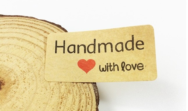 Samolepka  - Hand made with Love